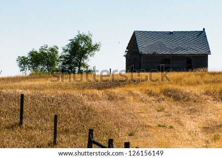South Dakota farmland - stock photo
