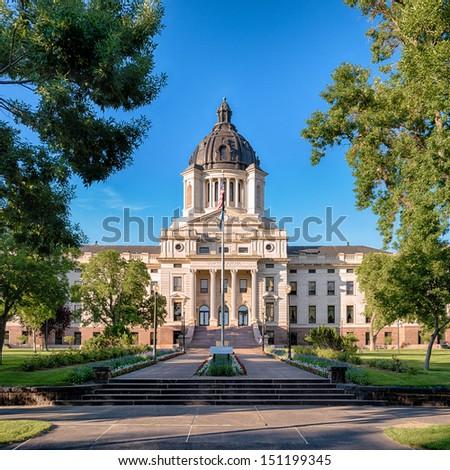 South Dakota State Capitol building in Pierre, South Dakota - stock photo