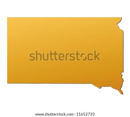 Map South Dakota Stock Vector Shutterstock - South dakota us map