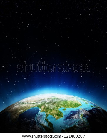 South East Asia. Elements of this image furnished by NASA - stock photo