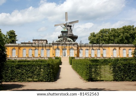 South facade of Sanssouci Picture Gallery in Potsdam, Germany