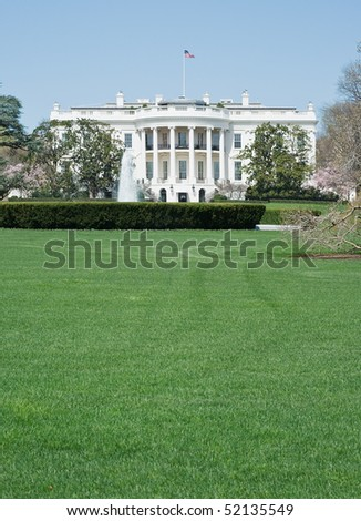 South Facade of the White House in Washington