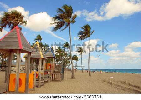 South Florida Beach - stock photo
