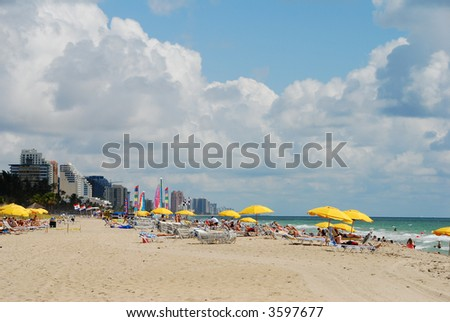 South Florida beach - stock photo