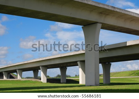 South Florida expressway - stock photo