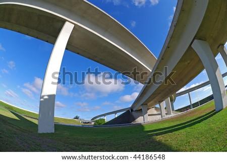 South Florida expressways - stock photo
