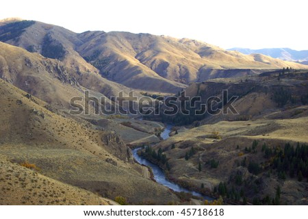 South Fork of the Boise River - stock photo