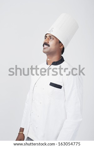 South Indian chef daydreaming