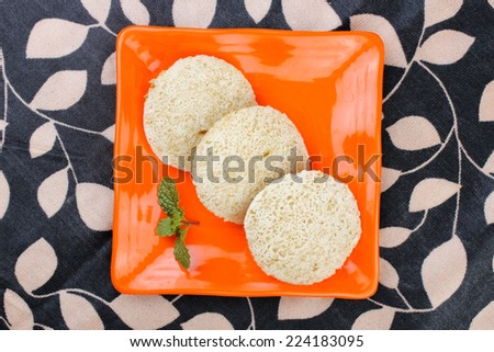 South Indian Food Idly Sambar Wada - stock photo