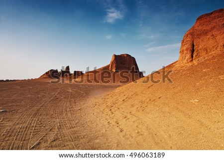 South Iran, Kalut desert, monument valley.