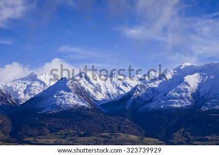 South Island Landscape Scenery, Central Otago, New Zealand - stock photo