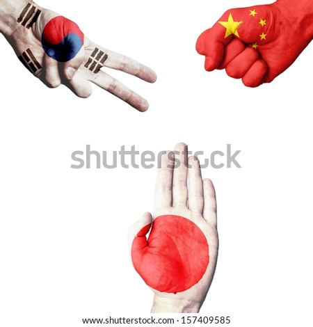 South Korea China Japan rock-paper-scissors