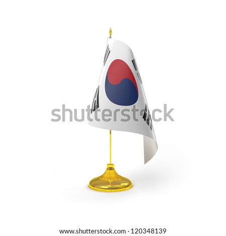 South Korea Flag Detail Render - stock photo