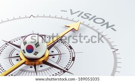 South Korea High Resolution Compass Concept - stock photo
