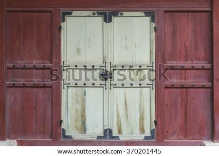 South korea window vintage style in Seoul - stock photo