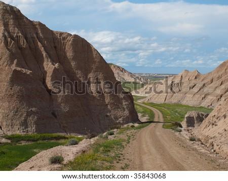 South Loop Badlands National Park South Dakota - stock photo