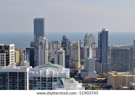 South Miami Avenue Cityscape - stock photo