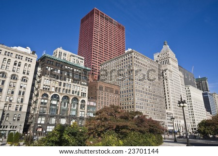 South Michigan Avenue in Chicago, IL. - stock photo