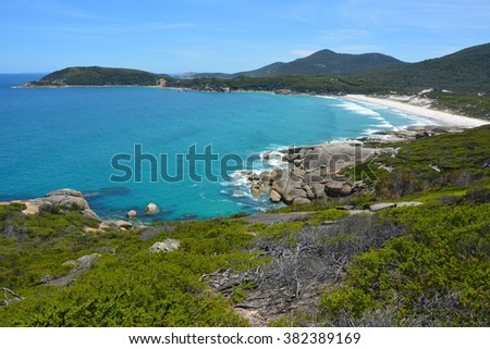 South Ocean coastline in Wilsons Promontory National Park