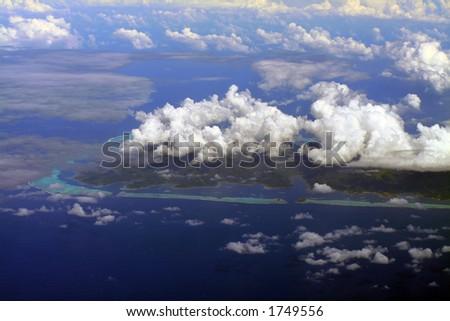 South of Raiatea island, French Polynesia - stock photo