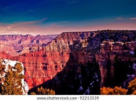 South Rim Grand Canyon - stock photo