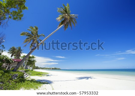south sea in thailand - stock photo