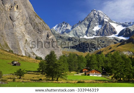 South side of Mount Grossglockner, Hohe Tauern National Park, Austrian Alps, Austria - stock photo