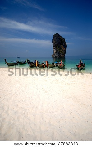 south Thaiand, tropical beach - stock photo