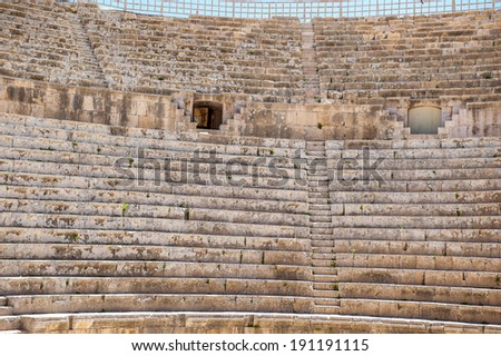 South Theater, Ancient Roman city of Gerasa of Antiquity , modern Jerash, Jordan