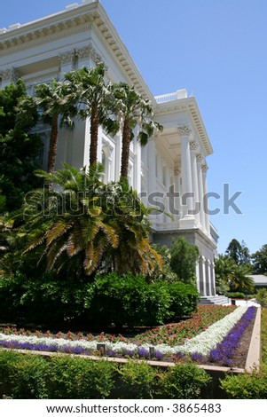 South West Corner of the California State Capitol Building in Downtown Sacramento - stock photo