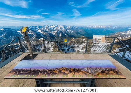 South western viewpoint of Pic du Midi de Bigorre, Hautes Pyrenees, France