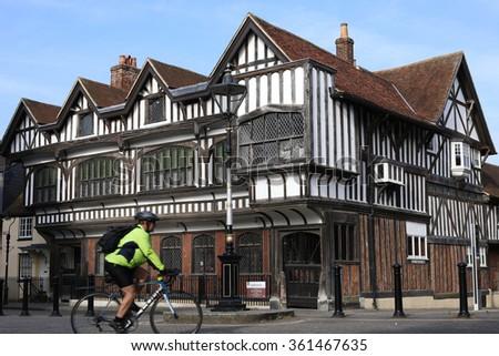 SOUTHAMPTON, UK - 27 MAY: Southampton's most important historic building  the Tudor House.