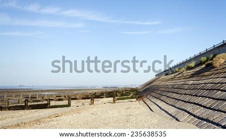 southend beach coastline uk - stock photo