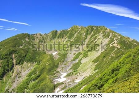 Southern Alps Mt. Senjougatake, Yamanashi, Japan - stock photo