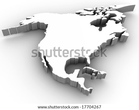 Southern America. 3d - stock photo