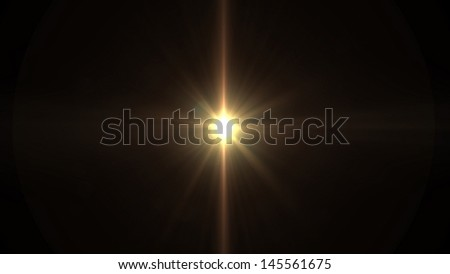 southern cross lens flare effect  - stock photo