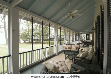 Southern Estate Home on Mobile Bay - stock photo
