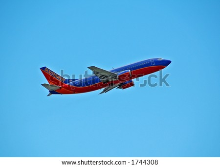 Southwest Airlines Boeing 737 - stock photo