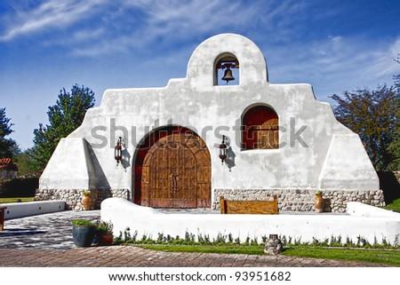 Southwest Church in Tubac Arizona - stock photo