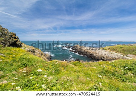 Southwest coast of the Island of Guernsey, Channel Islands, UK