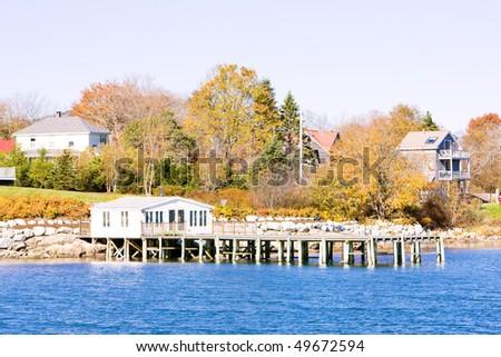 Southwest Harbor, Mount Desert Island, Maine, USA - stock photo