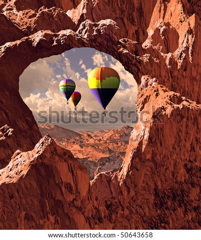 Southwest Hot Air Balloons - stock photo