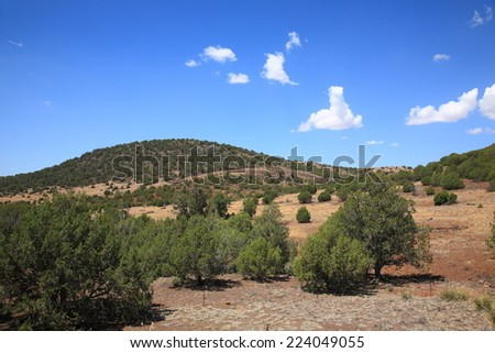 Southwest Landscape - American Southwest Arizona Landscape - stock photo