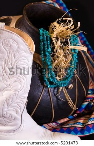 Southwest Turquoise - stock photo