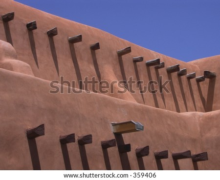 Southwestern Adobe - stock photo