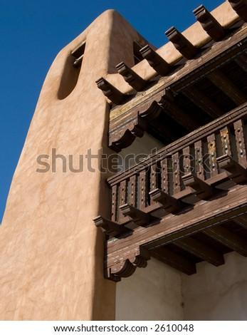 Southwestern adobe architecture - stock photo