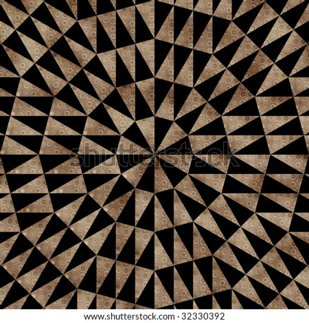 Southwestern tribal pattern in brown and black - stock photo