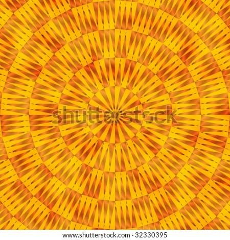 Southwestern tribal pattern in orange and yellow - stock photo