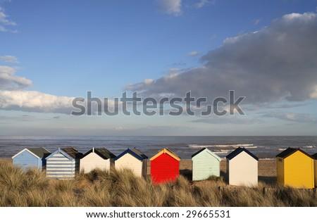 Southwold Beach Huts - stock photo