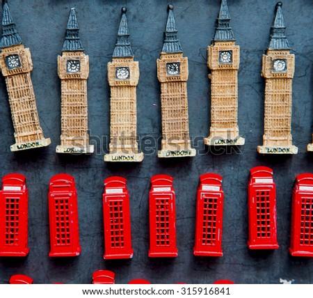 souvenir     in england london obsolete  box classic british icon - stock photo